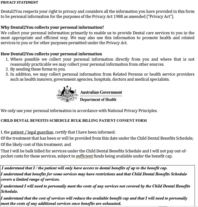Consent Form - dental2you